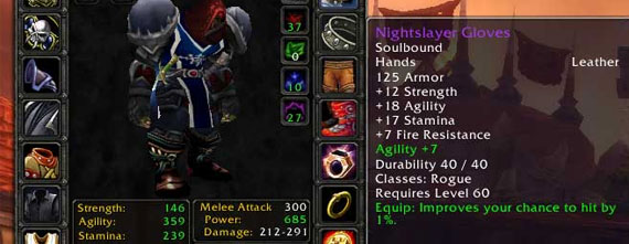 World of Warcraft stats